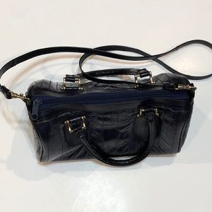 Vintage Blur Eel Leather Bag with Strap